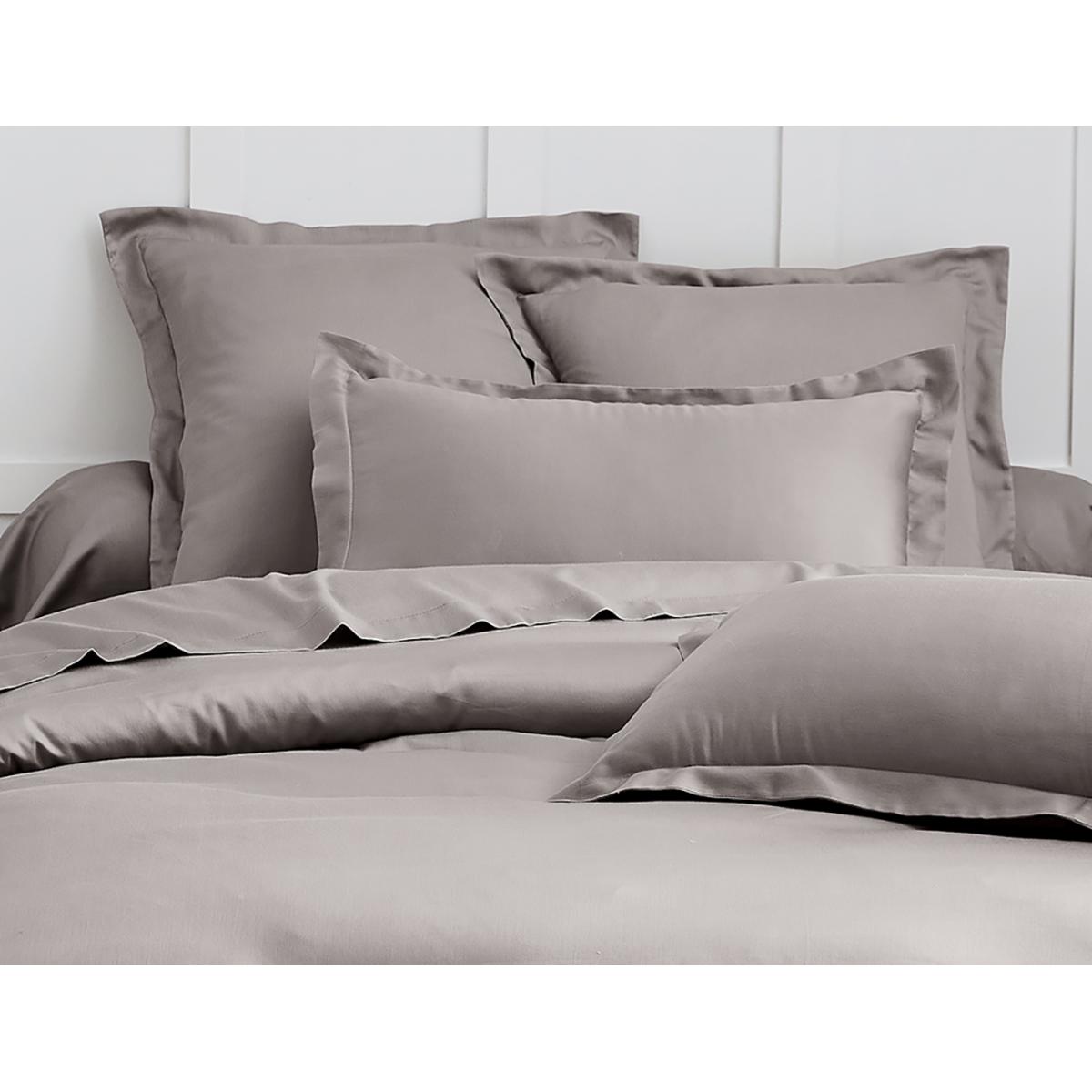 Parure de lit satin de coton Gris