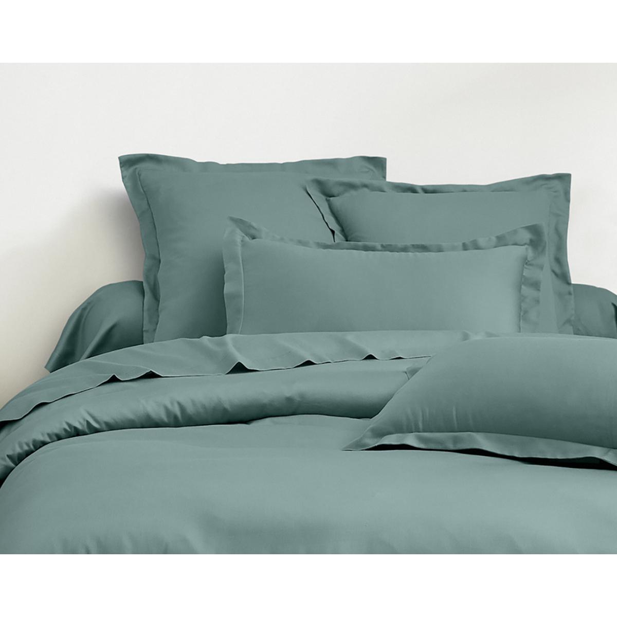 Parure de lit satin de coton céladon