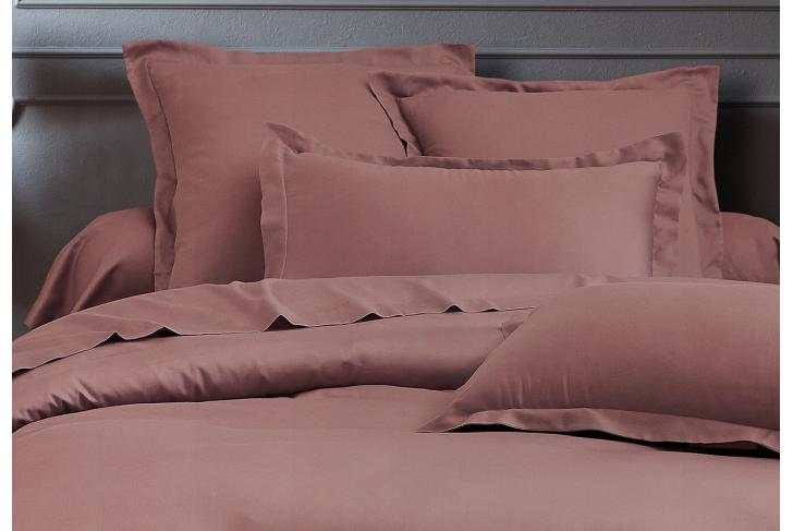 Parure de lit satin de coton Rose