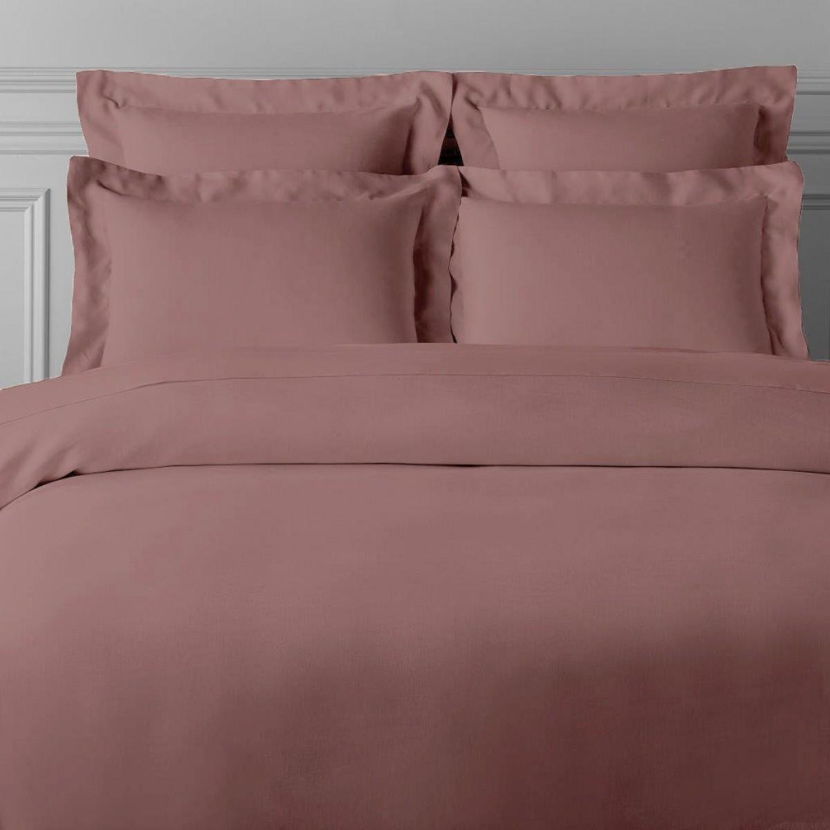 Housse de couette satin de coton rose