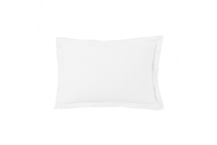 Taie d'oreiller 50x70 cm satin de coton blanc
