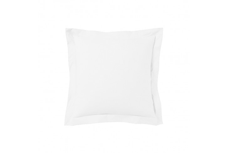 Taie d'oreiller 63x63 satin de coton blanc