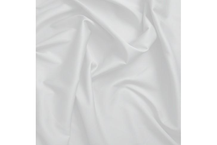 Taie de traversin satin de coton blanc