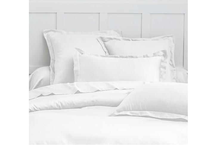 Parure de lit satin de coton Blanc