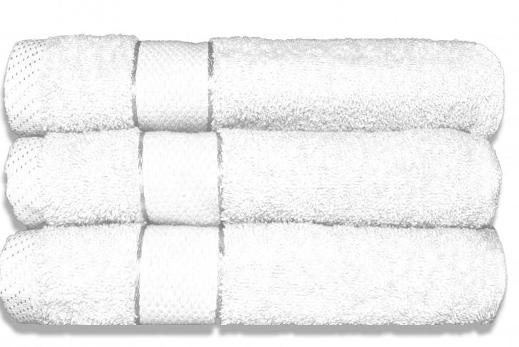 Lot de 3 Maxi draps de bain 100x150cm Blanc