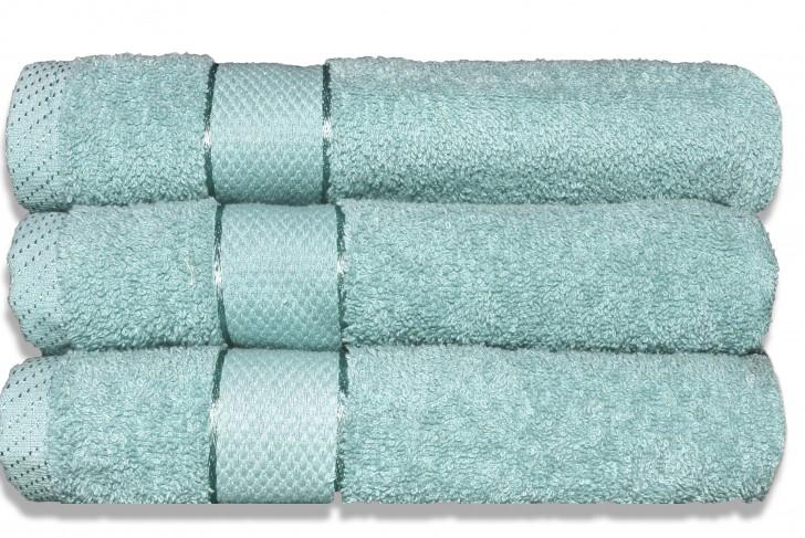 Lot de 3 Maxi draps de bain 100x150cm Céladon