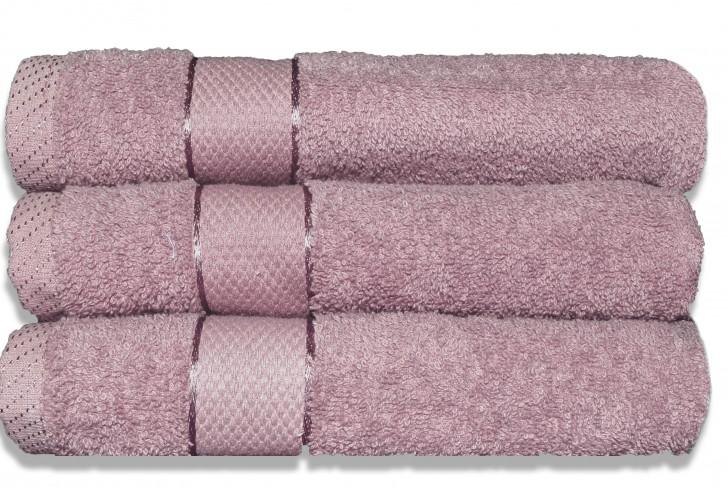 Lot de 3 Maxi draps de bain 100x150cm Rose