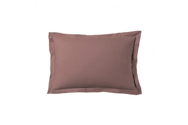 Taie d'oreiller 50x70 cm satin de coton rose