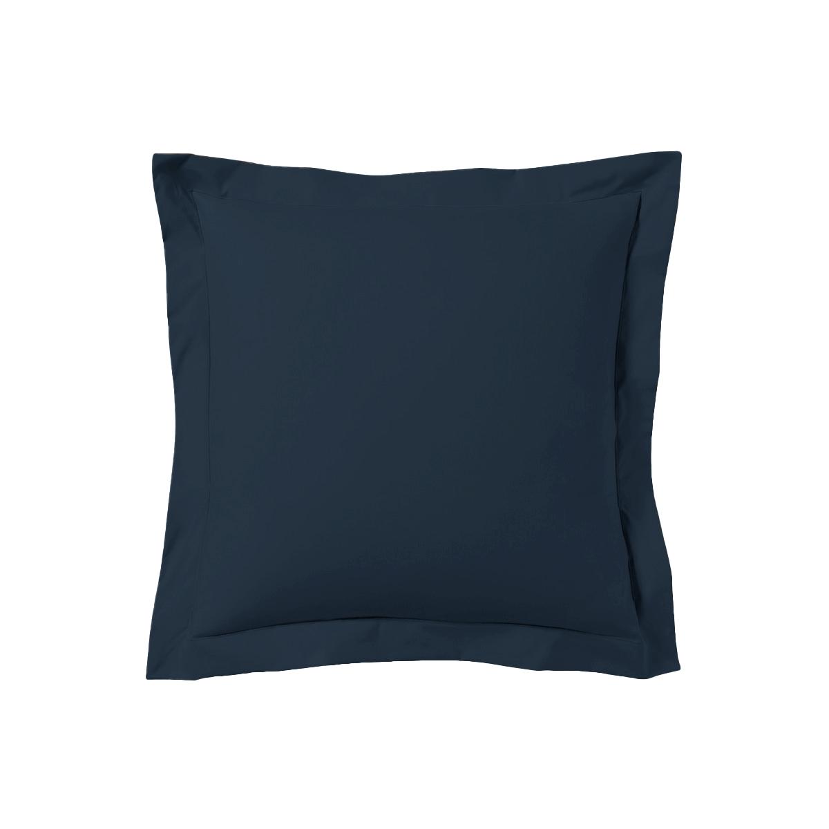 Taie d'oreiller 63x63 satin de coton bleu