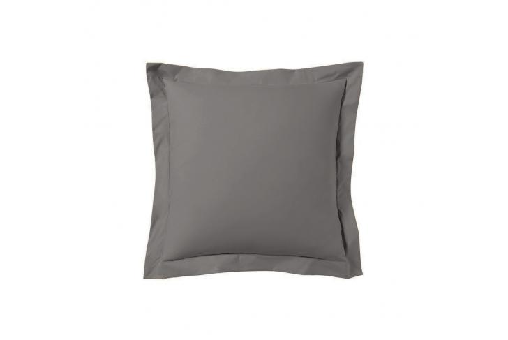 Taie d'oreiller 63x63 satin de coton gris