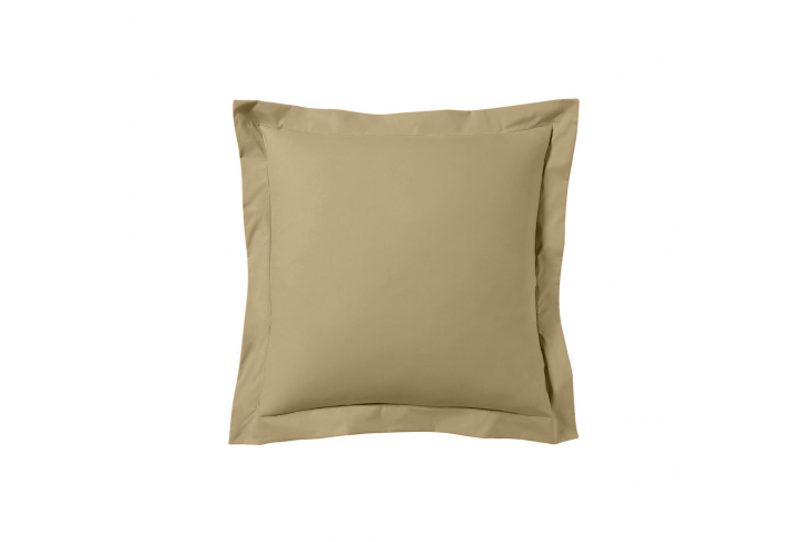 Taie d'oreiller 63x63 satin de coton lin