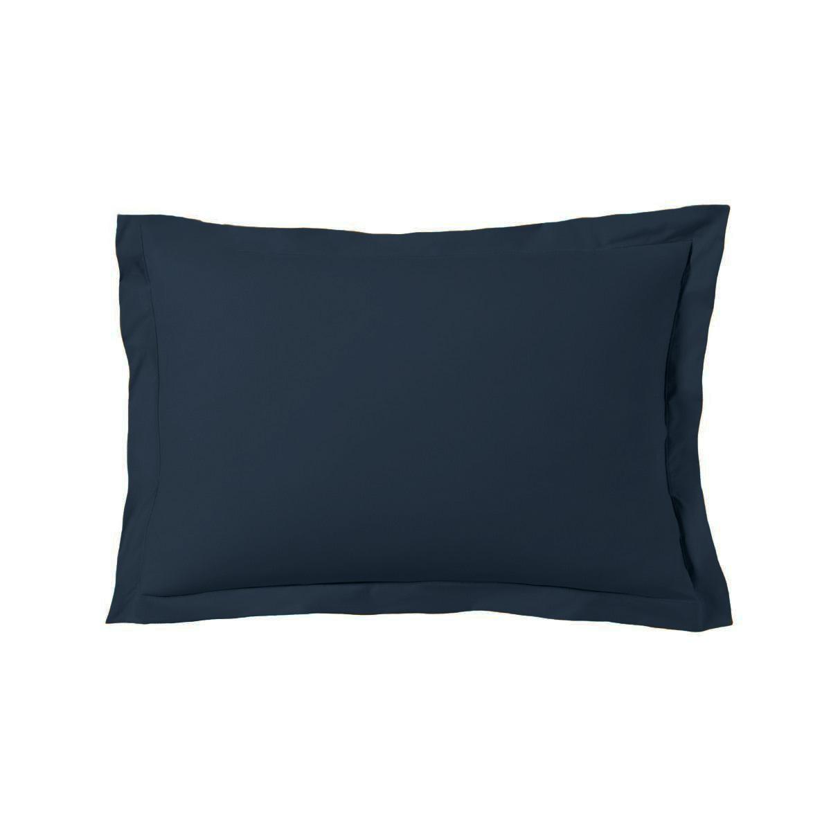 Taie d'oreiller 50x70 cm satin de coton bleu