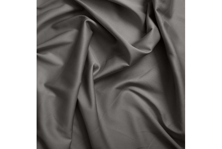 Drap satin de coton gris